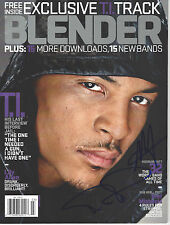 RAPPER T.I. TIP HARRIS SIGNED AUTHENTIC BLENDER MAGAZINE COA ATLANTA RAP LEGEND