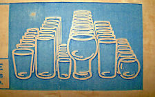 Drinking Glass Set 54 Pc Glassware Water Tumbler Beer Party Barware Vintage Usa