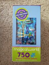 "Ceaco Magical World 750 Poster 18""x24"" Puzzle Coral City Style Bright Colors."