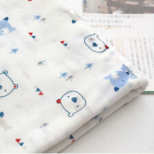 """Bear Cotton Knit Single Fabric by the Yard 73"""" Wide MR Poby"""