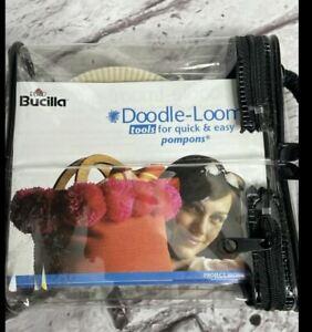 Bucilla Doodle-Loom Quick & Easy Pompon Maker (S,M,L) in Storage Case Pom Pom