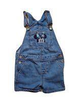 BabyGap Toddler Girls Blue White Railroad Stripe Shortalls 2