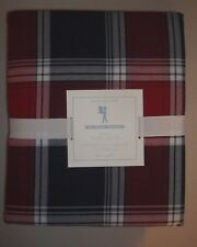 Pottery Barn Kids Organic Plaid Duvet Cover Twin Red Navy #114