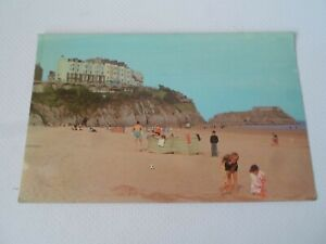 TENBY, South Beach - Nostalgic Retro Postcard - Franked 1974  §ZA1537