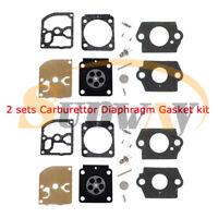 2x Carburateur Membrane Kit Zama RB-100 pour Stihl HS45 FS55 FS85 FS38 BG45 MM55