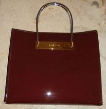 Balenciaga cable shopper, Tasche/bag, lackleder, bordeaux/burgundy, silber/gold