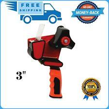 Heavy Duty Packing Tape Gun Dispenser Packaging Cutter Machine 3 Inch Wide Red