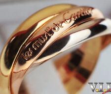 CARTIER TRINITY UNISEX MENS RING 18K/750 TRICOLOR GOLD BAGUE ANELLO SORTIJA (64)