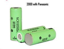 Batteria battery  ricaricabile Panasonic 18500 2000mAh 3.7V 1 pezzo NCR18500A
