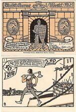 Germany 50 Pfennig 1921 Notgeld Herne AU-UNC Knight Banknote - No.7