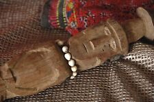 Old Papua New Guinea Carved Wooden Walking Stick / Cane …with beaded necklace
