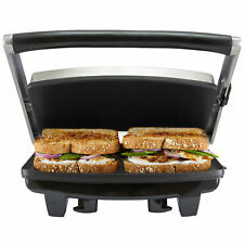 Cafe Press Stainless Steel 4 Slice 2 Sandwich Maker Grill Toasted Toaster