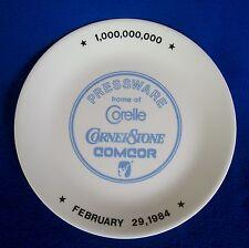 CORELLE CORNING COMCOR 1984 PRESSWARE ONE BILLIONTH DINNER PLATE 1,000,000,000