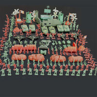 290 Pcs Military Playset Plastic Toy Soldiers Army Men 4cm Figures & Accessorie