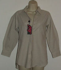 Check Collared Hip Length Tops & Shirts Size Petite for Women