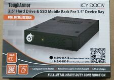 NEW Icy Dock MB991SK-B ToughArmor 2.5in SATA Mobile Rack for 3.5in Device Bay