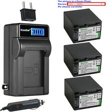 Kastar Battery LCD AC Charger for Sony NP-FV100 Sony FDR-AX33 FDR-AX53 NEX-VG10