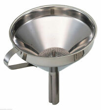 Kitchen Craft Large Stainless Steel Pouring Funnel With Removable Filter