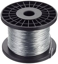 STRANDED FENCING WIRE 400M Electric Fence 1.5mm Pigs Sheep 7 Strand Galvanised