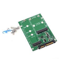 NGFF M.2 B+M KEY mSATA SSD to SATA III 3 Adapter Card for Laptop Desktop 6Gbps