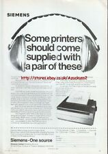Siemens PT88 Vintage Ink-Jet Printer 1984 Magazine Advert #5234