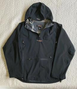 Sitka Gear Solids Black 1/4 Zip Rain Jacket, Size M