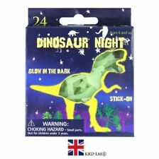 24x Dinosaur Glow in The Dark Stickers Ceiling Wall Room Decor Kids Party Filler