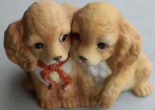 2 Dog Figurine by Homco (Masterpiece Porcelain)
