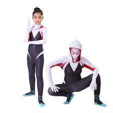 HOT Spider-Gwen Adult Kids Super Hero Halloween Cosplay Costume Outfit Suit