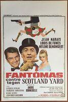 Plakat Belgischer Fantomas Gegen Scotland Yard Jean Wk Louis De Funès Demongeot