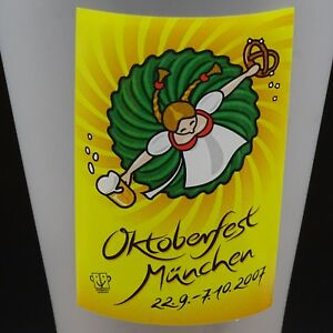 Oktoberfest Pilsner Beer Glass 2007 Official Munchen Bavaria Edition Barware