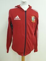 J83 MENS ADIDAS THE LIONS 2013 RUGBY RED COTTON TRACK JACKET HOODIE UK S EU 46