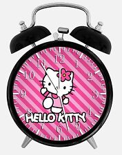"Hello Kitty Alarm Desk Clock 3.75"" Room Office Decor W23 Will Be a Nice Gift"