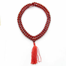 8mm 108 Natural Red Agate Beads Buddhist Prayer Mala Necklace Bracelet