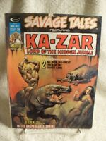 SAVAGE TALES FEATURING KA-ZAR LORD OF THE JUNGLE MAGAZINE #7 NOV 1974 MARVEL