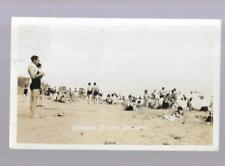 pk34101:Real Photo Postcard-Bathers on Ormond Beach,Ontario