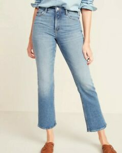 BNWT Old Navy High-Waisted Crop Flare Ankle Jeans in Light Blue, Petite 8