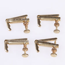 4pcs Violin String Fine Tuner Tune Adjusters for 4/4 3/4 Nickel Plated Golden