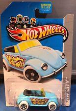 Hot Wheels, Volkswagen Beetle, 2013 Graffiti Rides, Baby Blue, White Wheels