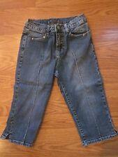 Girls size 12 capri/cropped JEANS blue denim CREST JEANS
