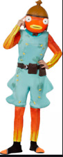 Fortnite Fishstick Youth Halloween Costume Jumpsuit and Mask Size Large 10-12