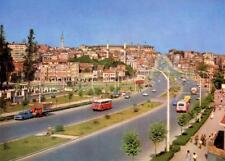 Photo. ca 1965. Aksaray, İstanbul, Turkey.  Sky view Millet Street