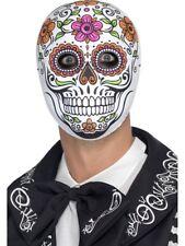 Senor Bones Mask Day Of The Dead Halloween Fancy Dress Face Mask