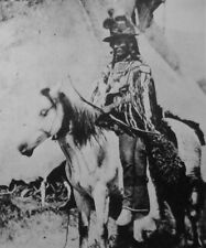 LOOKING GLASS clipping Native American B&W photo Alpowai leader Nez Perce War