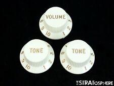 Fender Player Stratocaster Strat GUITAR KNOBS, Volume Tone Control, **Parchment
