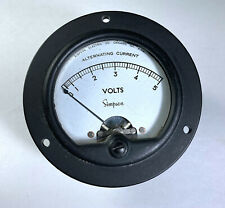Simpson Ac 0 5 Volts Analog Panel Meter Made In Usa For Parts Repair