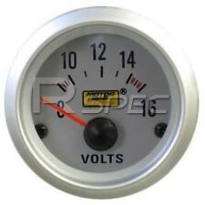 Car 52mm Silver Faced Voltage DC Volts Gauge