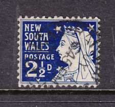 N.S.W. : 2 1/2d Blue Qv Sg 302 Fine Used.