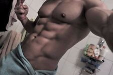 Shirtless Male Muscular Beefcake Hard Body Builder Shower Towel PHOTO 4X6 F61