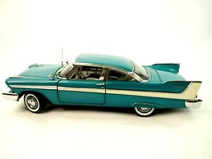 Franklin Mint 1958 Plymouth Belvedere Hardtop Die-Cast 1:24 Box & Papers Lmt ed.
